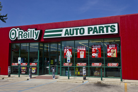 aftermarket: Logansport, IN - Circa June 2016: OReilly Auto Parts Store. OReilly is a Retailer and Distributor of Automotive Parts I