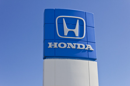 HONDA: Indianapolis - Circa June 2016: Honda Motor Co. Logo and Sign. Honda Manufacturers Among the Most Reliable Cars in the World I Editorial
