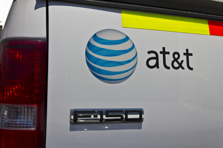 fcc: Indianapolis - Circa June 2016: AT&T Work Truck. AT&T Inc. is an American Telecommunications Corporation VIII