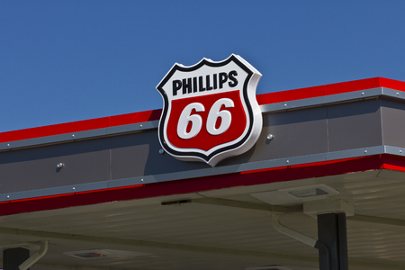 66: Indianapolis - Circa June 2016: Phillips 66 Company Retail Location. Phillips 66 is an American Energy Company III Editorial