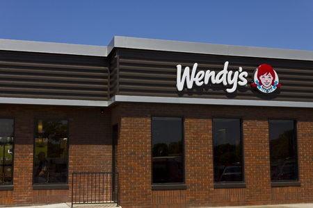 food store: Indianapolis - Circa June 2016: Wendys Retail Location. Wendys is an International Fast Food Restaurant Chain VI