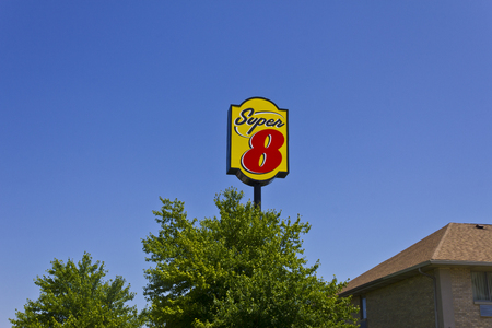 super 8: Indianapolis - June 2016: Super 8 Motel. Super 8 is a Subsidiary of Wyndham Worldwide II