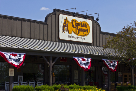 country store: Indianapolis - Circa June 2016: Cracker Barrel Old Country Store Location. Cracker Barrel Serves Homestyle Food V