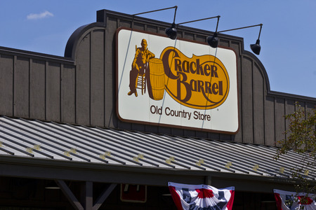 country store: Indianapolis - Circa June 2016: Cracker Barrel Old Country Store Location. Cracker Barrel Serves Homestyle Food IV Editorial