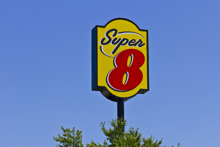super 8: Indianapolis - June 2016: Super 8 Motel. Super 8 is a Subsidiary of Wyndham Worldwide I