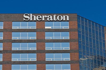 part of me: Indianápolis - alrededor de junio de 2016: Sheraton Indianapolis Hotel at Keystone Crossing. Sheraton es parte del Grupo I Starwood Hotel Editorial