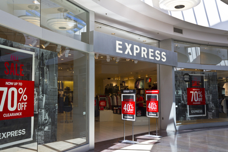 retailer: Indianapolis - Circa June 2016: Express Retail Mall Location. Express, Inc. is a  Fashion Retailer that Caters to Young People I Editorial