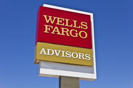wells: Indianapolis - Circa June 2016: A Wells Fargo Advisors  Branch. Wells Fargo is a Provider of Financial Services V Editorial