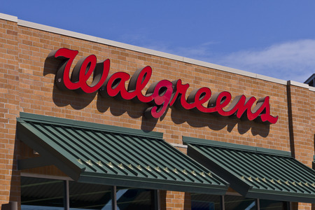 retailing: Indianapolis - Circa July 2016: Walgreens Retail Location. Walgreens announced its plans to acquire Rite Aid in a deal worth $17.2 billion I