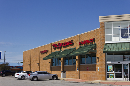 retailing: Indianapolis - Circa July 2016: Walgreens Retail Location. Walgreens announced its plans to acquire Rite Aid in a deal worth $17.2 billion III Editorial