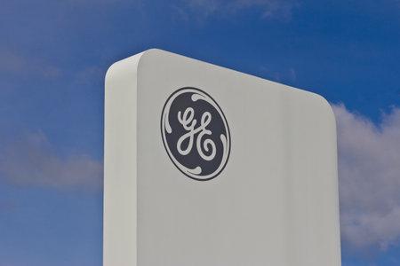 planos electricos: Lafayette, IN - Circa 2016 julio: Fondo General Electric de Aviación. GE Aviation es un fabricante de motores a reacción VIII LEAP Editorial