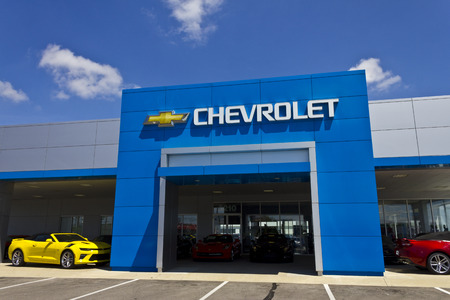 chevrolet: Indianapolis - Circa July 2016: Chevrolet Automobile Dealership. Chevrolet is a Division of General Motors I