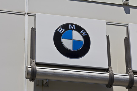 bmw: Indianapolis - Circa July 2016: A Local BMW Dealership. BMW is a Luxury Car Manufacturer Based in Germany II