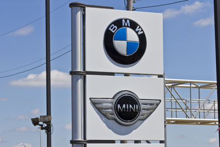 manufacturer: Indianapolis - Circa July 2016: A Local BMW and Mini Dealership. BMW is a Luxury Car Manufacturer Based in Germany III
