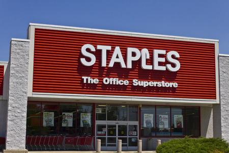 Ft. Wayne, IN - Circa July 2016: Staples Inc. Retail Location. Staples is a Large Office Supply Chain III