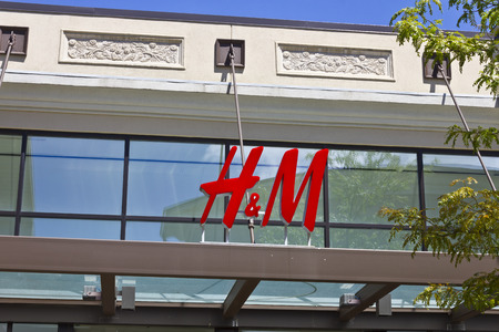 hm: Indianapolis - Circa July 2016: H&M Retail Mall Location. H&M is an international clothing company III