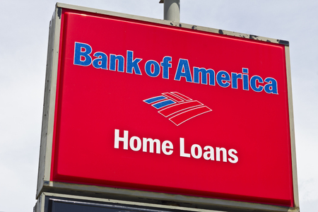 bank of america: Marion, IN - Circa July 2016: Bank of America Home Loan Branch. Bank of America is a Banking and Financial Services Corporation I