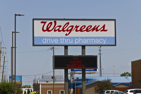 retailing: Indianapolis - Circa July 2016: Walgreens Retail Location. Walgreens announced its plans to acquire Rite Aid in a deal worth $17.2 billion IV