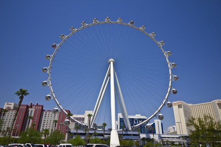 Las Vegas - Circa July 2016: High Roller Ferris Wheel at the LINQ Hotel. The High Roller and LINQ Hotel are part of Caesars Entertainment Corporation I