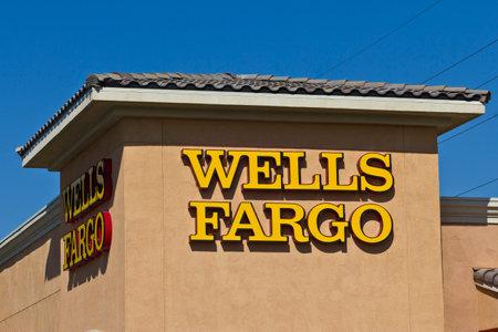 wells: Las Vegas - Circa July 2016: Wells Fargo Retail Bank Branch. Wells Fargo is a Provider of Financial Services VIII