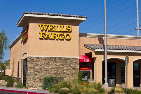 deposits: Las Vegas - Circa July 2016: Wells Fargo Retail Bank Branch. Wells Fargo is a Provider of Financial Services VII