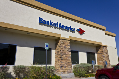 bank of america: Las Vegas - Circa July 2016: Bank of America Bank and Loan Branch. Bank of America is a Banking and Financial Services Corporation IV Editorial