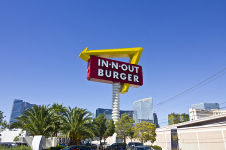 Las Vegas - Circa July 2016: In-N-Out Burger Fast Food Location. In-N-Out is incredibly popular in the southwestern US III