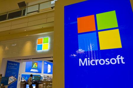 ラスベガス - 2016 年 7 月頃: マイクロソフト小売技術ストア モール場所 III 報道画像