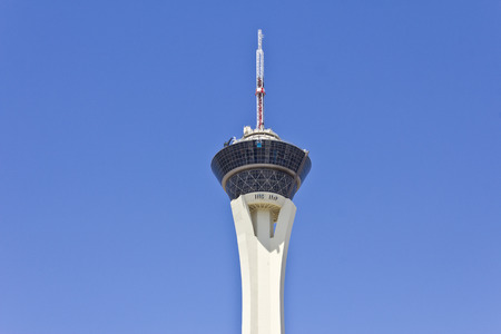 Las Vegas - Circa July 2016: Stratosphere Tower, the tallest freestanding observation tower in the US. The top of the tower has two observation decks, a restaurant and four thrill rides II