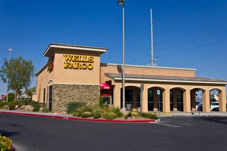 Las Vegas - Circa July 2016: Wells Fargo Retail Bank Branch. Wells Fargo is a Provider of Financial Services V