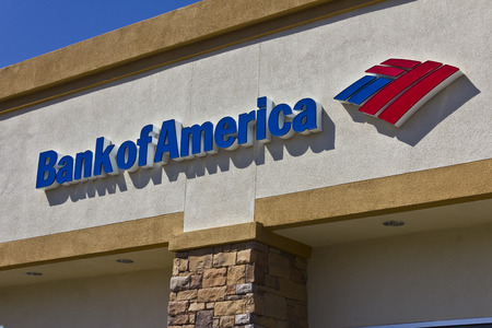 bank of america: Las Vegas - Circa July 2016: Bank of America Bank and Loan Branch. Bank of America is a Banking and Financial Services Corporation III