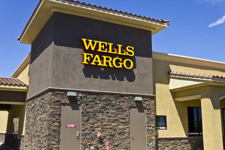 bank branch: Las Vegas - Circa July 2016: Wells Fargo Retail Bank Branch. Wells Fargo is a Provider of Financial Services VI