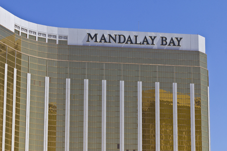 Las Vegas - Circa July 2016: Exterior and Signage of the Mandalay Bay Hotel. The Mandalay Bay is a Subsidiary of MGM Resorts International I