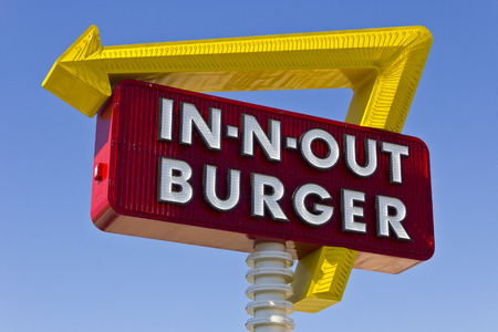 Las Vegas - Circa July 2016: In-N-Out Burger Fast Food Location. In-N-Out is incredibly popular in the southwestern US I