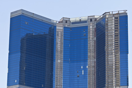 Las Vegas - Circa July 2016: The Unfinished Fontainebleau Resort Las Vegas on the Strip. The Fontainebleau Has Been only 70 percent complete since 2008 I Stok Fotoğraf - 60600628