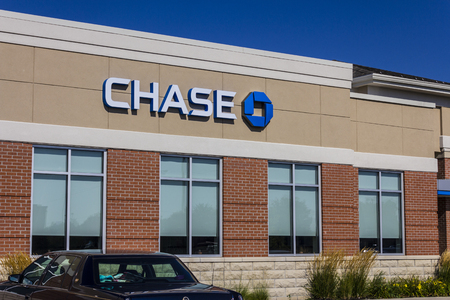 Muncie, IN - Circa July 2016: Chase Bank Retail Location. Chase is the U.S. Consumer and Commercial Banking Business of JPMorgan Chase VI