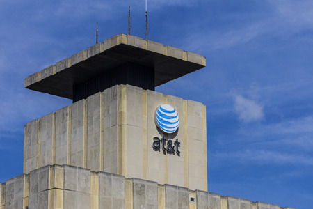 fcc: Muncie, IN - Circa July 2016: Downtown AT&T Central Office. AT&T Inc. is an American Telecommunications Corporation XI