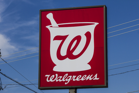 Muncie, IN - Circa July 2016: Walgreens Retail Location. Walgreens announced its plans to acquire Rite Aid in a deal worth $17.2 billion IV