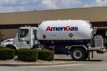 Indianapolis - Circa July 2016: AmeriGas Truck. AmeriGas is a propane company serving residential, commercial, industrial, agricultural and motor fuel customers II Editorial