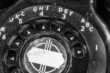 Old Art Deco Phone - Antique Rotary Dial Telephone I Stock Photo