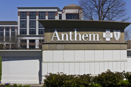 reimbursement: Indianapolis - Circa April 2016: Anthem World Headquarters. Anthem is a Trusted Health Insurance Plan Provider VIII