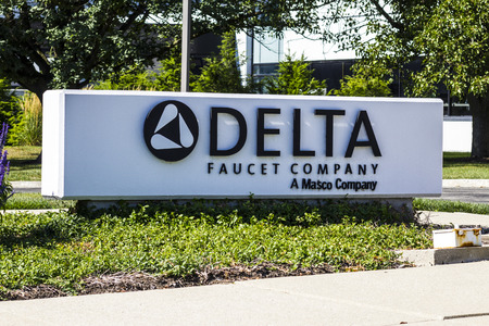 delta: Indianapolis - Circa August 2016: Delta Faucet Company Corporate Headquarters. Delta Faucet is a wholly owned subsidiary of Masco Corporation I Editorial