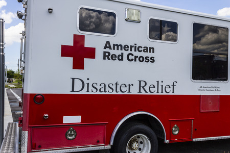 Indianapolis - Circa August 2016: American Red Cross Disaster Relief Van. The American National Red Cross provides emergency assistance and disaster relief I