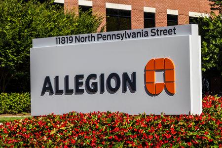 Carmel - Circa August 2016: Allegion Americas Headquarters. Allegion is a provider of security products I Redakční