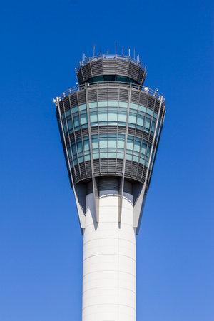 traffic controller: Indianapolis - Circa August 2016: The Air Traffic Control Tower at Indianapolis International Airport II Editorial