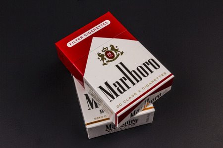 morris: Indianapolis - Circa August 2016: Packs of Marlboro Cigarettes. Marlboro is a product of the Altria Group II