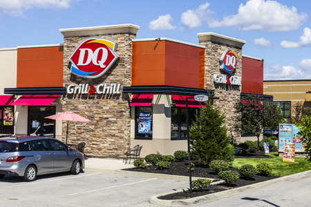 hathaway: Indianapolis - Circa August 2016: Dairy Queen Retail Fast Food Location. DQ is a Subsidiary of Berkshire Hathaway III