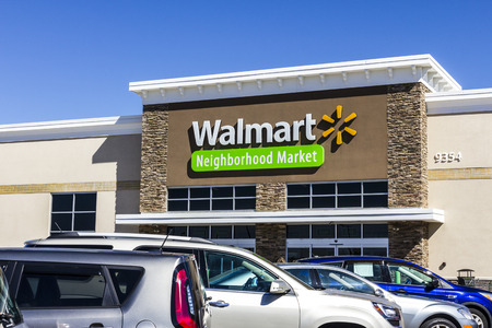Indianapolis - Circa August 2016: Walmart Retail Location. Walmart is an American Multinational Retail Corporation VII