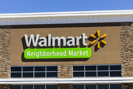 walmart: Indianapolis - Circa August 2016: Walmart Retail Location. Walmart is an American Multinational Retail Corporation VI
