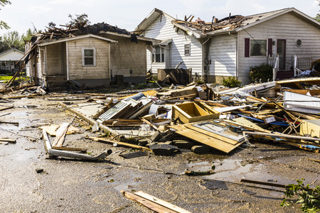 act of god: Kokomo - August 24, 2016: Several EF3 tornadoes touched down in a residential neighborhood causing millions of dollars in damage. This is the second time in three years this area has been hit by tornadoes 44
